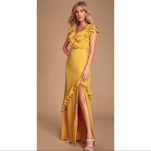 Lulus Love From Above Ruffled Surplice Maxi Dress